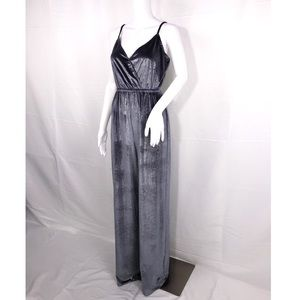 Show Me Your Mumu Gray Glitter Velvet Jumpsuit SzS